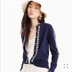 NWT JCREW EMBROIDERED CARDIGAN